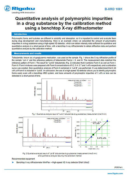 B-XRD1081_Quantitative_analysis_of_polymorphic_impurities_in_a_drug_substance_by_the_calibration_method_---_ApplicationNote_R0601en