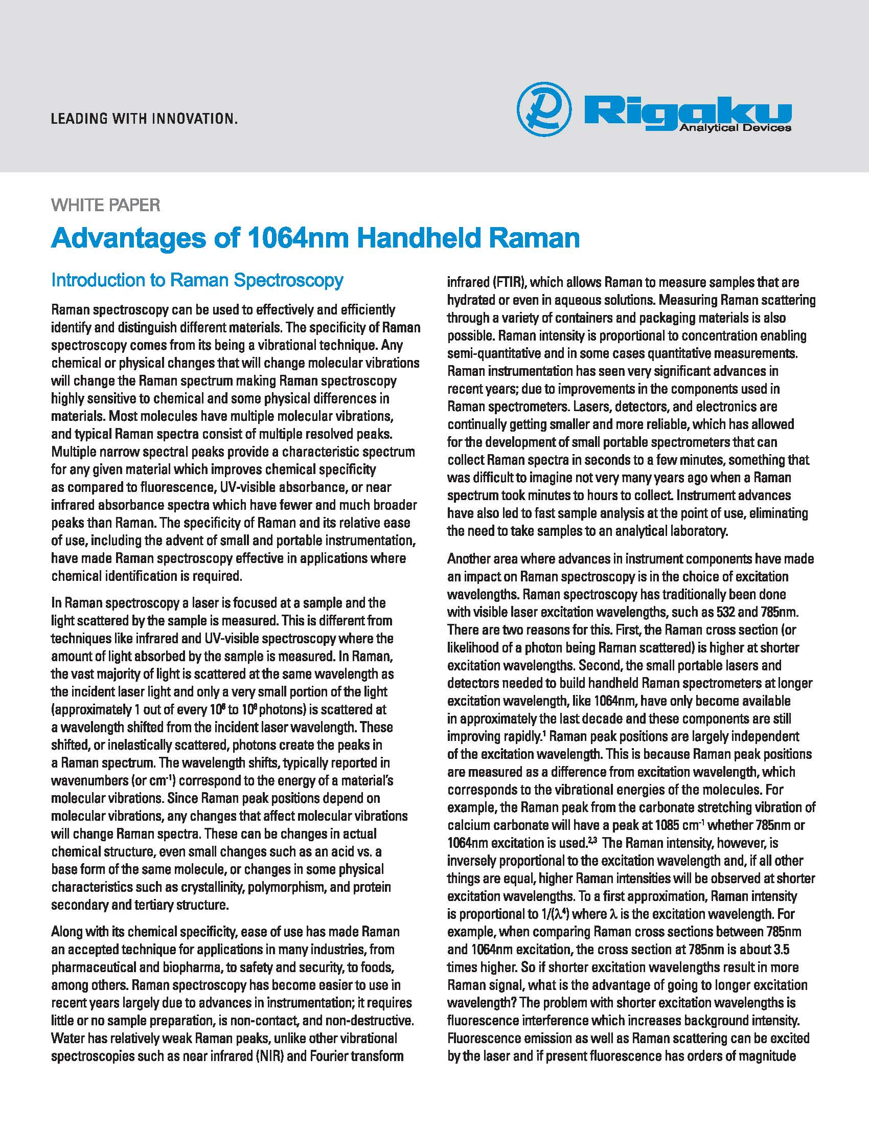 White paper - Advantages of 1064nm Handheld Raman_Page_01